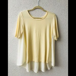 🎉 Lord&taylor yellow oversized T-shirt tunic NWT